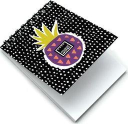 Make Notes Sweet pineapple Kołonotes A7/64K czarny gładki