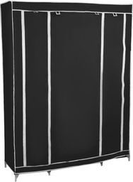 ISO Szafa na ubrania przenośna czarna składana uniwersalny