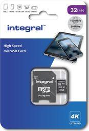Karta Integral Integral High Speed microSDXC 32GB - Karta pamięci 32 GB microSDXC z adapterem uniwersalny