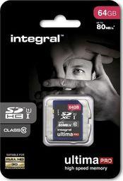Karta Integral Integral UltimaPro - Karta pamięci 64 GB SDHC 80MB/s Class 10 UHS-I U1 uniwersalny