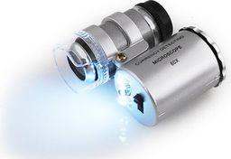 Mikroskop ISO Lupa Mikroskop Kieszonkowy Powiększenie x 60 + UV uniwersalny