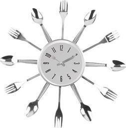 """ISO Zegar ścienny """"Sztućce"""" do kuchni restauracji uniwersalny"""