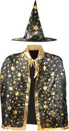 ISO strój czarodzieja czarownica peleryna kapelusz bal halloween uniwersalny
