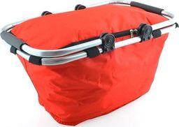 ISO Kosz piknikowy koszyk składany TERMICZNY czerwony uniwersalny