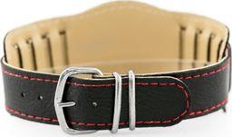 Pasek z ekoskóry do zegarka - podkładka - czarny/czerwone - 18mm uniwersalny