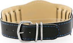 Pasek z ekoskóry do zegarka - podkładka - czarny/niebieskie - 18mm uniwersalny