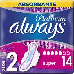 Always Higieniniai paketai Always Platinum Super 14 vnt