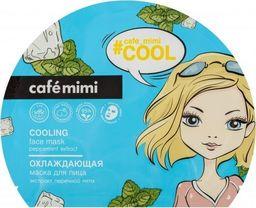 Cafe Mimi Vėsinanti lakštinė kaukė veidui su pipirmėtės ekstraktu Cafė Mimi, 22 g