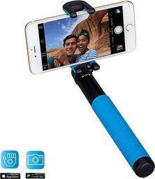Selfie stick Momax Momax Selfie Hero - Uniwersalny kij do selfie + pilot Bluetooth (100 cm) (Black/Blue) uniwersalny