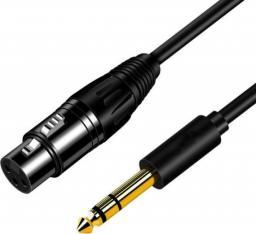 Mozos Kabel mikrofonowy 3m XLR - Jack 6.35