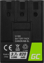Akumulator Green Cell Bateria Green Cell NB-3L NB3L do Canon Digital IXUS II, PowerShot SD100, IXY Digital 600 3.7V 820mAh