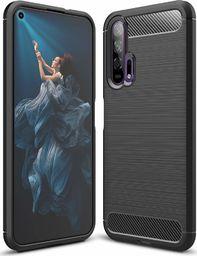 Hurtel Carbon Case elastyczne etui pokrowiec Huawei Honor 20 / 20 Pro czarny