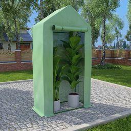 vidaXL Szklarnia ogrodowa, stalowa konstrukcja, 0,5 m, 1x0,5x1,9 m