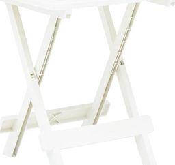 vidaXL składany stolik ogrodowy, biały, 45x43x50 cm, plastikowy (48808)