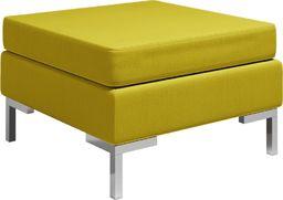 vidaXL Podnóżek do mebli modułowych, z poduszką, tkanina, żółty