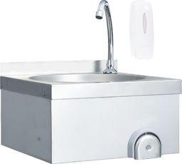 vidaXL Bezdotykowa umywalka do rąk z kranem, stal nierdzewna