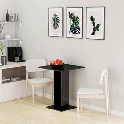 vidaXL Stolik bistro, czarny, wysoki połysk 60x60x75 cm, płyta wiórowa