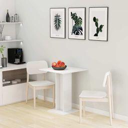 vidaXL Stolik bistro, wysoki połysk, biały, 60x60x75 cm, płyta wiórowa