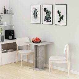 vidaXL Stolik bistro, szarość betonu, 60x60x75 cm, płyta wiórowa