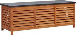 vidaXL Skrzynia ogrodowa, 150x50x55 cm, lite drewno eukaliptusowe