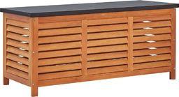 vidaXL Skrzynia ogrodowa, 117x50x55 cm, lite drewno eukaliptusowe