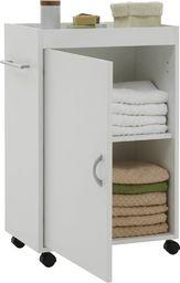 FMD FMD Szafka łazienkowa na skrętnych kółkach, biała