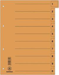 Donau Przekładka DONAU, karton, A4, 235x300mm, 0-9, 1 karta z perforacją, pomarańczowa