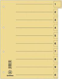 Donau Przekładka DONAU, karton, A4, 235x300mm, 0-9, 1 karta z perforacją, żółta