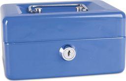 Donau Kasetka na pieniądze DONAU, mała, 152x80x115mm, niebieska