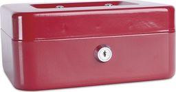 Donau Kasetka na pieniądze DONAU, średnia, 200x90x160mm, czerwona