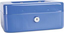 Donau Kasetka na pieniądze DONAU, średnia, 200x90x160mm, niebieska