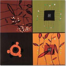 Feeby Deco Panel, Kolaż kwiaty abstrakcja  30x30
