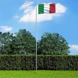 vidaXL Flaga Włoch, 90x150 cm