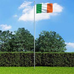 vidaXL Flaga Irlandii, 90x150 cm