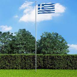 vidaXL Flaga Grecji, 90x150 cm