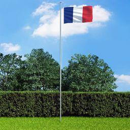 vidaXL Flaga Francji, 90x150 cm