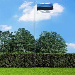 vidaXL Flaga Estonii, 90 x 150 cm