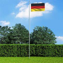vidaXL Flaga Niemiec, 90x150 cm