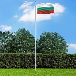 vidaXL Flaga Bułgarii, 90x150 cm