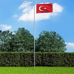 vidaXL Flaga Turcji, 90x150 cm