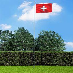 vidaXL Flaga Szwajcarii, 90x150 cm