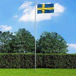 vidaXL Flaga Szwecji, 90x150 cm