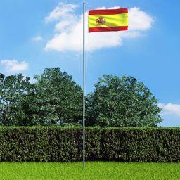 vidaXL Flaga Hiszpanii, 90x150 cm
