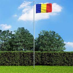 vidaXL Flaga Rumunii, 90x150 cm
