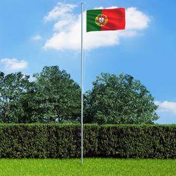 vidaXL Flaga Portugalii, 90x150 cm