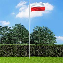 vidaXL Flaga Polski, 90x150 cm