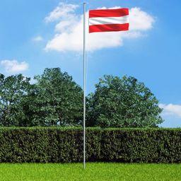 vidaXL Flaga Austrii, 90 x 150 cm