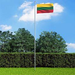 vidaXL Flaga Litwy, 90 x 150 cm