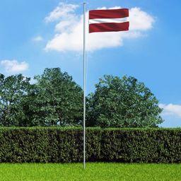 vidaXL Flaga Łotwy, 90x150 cm