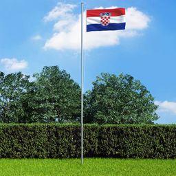vidaXL Flaga Chorwacji, 90 x 150 cm
